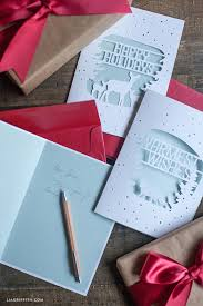If You Are Good With The Craft Knife Here Is Printable Template As Well Enjoy Lia Holiday Woodland DIY Cards Paper Cut