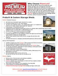 Metal Storage Sheds Menards by Premium Pole Building And Storage Sheds Upper Peninsula Mi