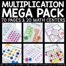 Multiplication Center Ideas To Teach Concepts Related And Building Fact Fluency In A