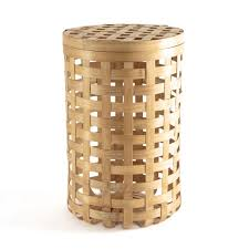 runder korb jakemo aus bambusgeflecht