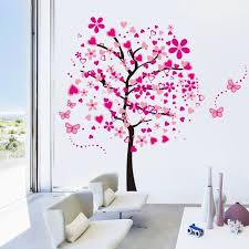 stickers chambre fille arbre papillon diy stickers muraux arbres stickers muraux