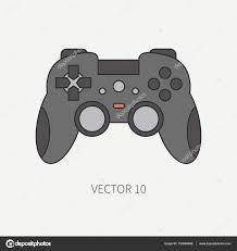 gadget pour bureau ligne plate couleur vecteur ordinateur partie icône manette de jeu