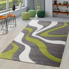 teppich grau grün weiß wohnzimmer teppiche modern mit