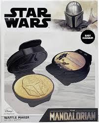 wars mandalorian helmet shaped waffle maker wars