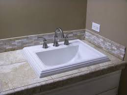 Install Overmount Bathroom Sink by Kohler Memoirs Classic Drop In Vitreous China Bathroom Sink In