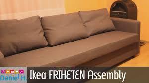 ikea friheten sleeper sofa assembly guide sofa bed 3 youtube