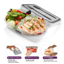 Stor All Press N Click Lunch Bento Box Plastic Food Storage With Cultery