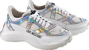 Love Moschino Chunky Sneakers Weiss Silber Damen