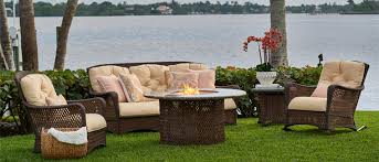 grand traverse wicker patio set by lloyd flanders carlspatio com