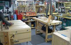 Woodworking Hobbits And Job Shoppers Think Circular My Home Basement Hobby Shop Layout Is Wonderfully
