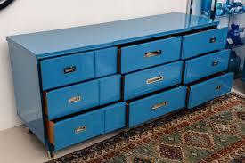 John Widdicomb Dresser Mirror by Ocean Blue Lacquered John Widdicomb Dresser At 1stdibs