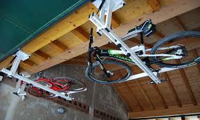 Ceiling Bike Rack Flat by Ceiling Overhead Bike Rack For Mountain Bike Trekking Bike