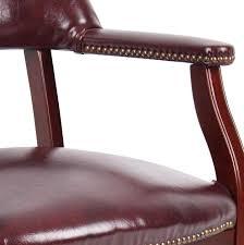 Wood Captains Chair Plans by Amazon Com Boss Captain U0027s Chair In Burgundy Vinyl W Casters