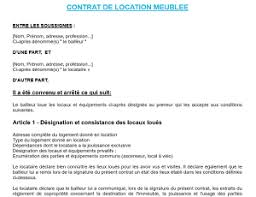 location de chambre contrat de location chambre meublee newsindo co