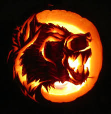 Wolf Pumpkin Carving Patterns Easy by Pumpkin Carving Of A Dragon With Fire Mystical Dragons