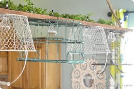 Wire Egg Basket Chandelier