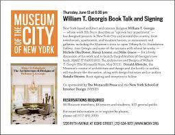 100 William Georgis Architect T At MCNY