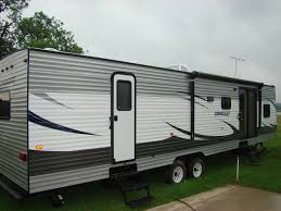 Rv With 2 Bedrooms Bathrooms Bedroom Campers Cherokee 39h Quad Slide Bath And Half Travel Trailers