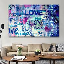 100 Pop Art Home Decor Street Oil Painting Banksy Monkey Canvas Ativos Love Graffiti Picture Print Abstract Wall Poster Super Promo Black