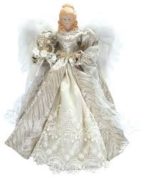 16 Silver Elegant Angel Tree Topper Traditional Christmas Inside