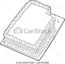Outlined Cake With Missing Slice Vector