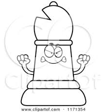 Bishop Chess Piece Sketch Coloring Page