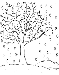 Approved Winter Tree Coloring Page Pages