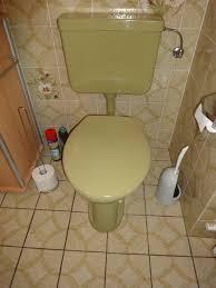 grünes badezimmer aus den 70er jahren