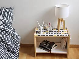 customiser le papier ikea diy customiser la table de chevet rast le bazar d alison