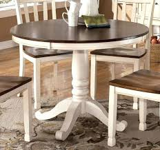 Distressed White Dining Set Table Large Round