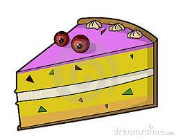 400x312 Clip Art Slice Cake Clipart