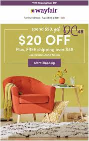 Wayfair 20 Off 50 Couponmdashfast Shipment 099 Picclick 1 Of ... Wayfair Coupon Code 20 Off Any Order Wayfair20off Twitter Code Enterprise Canada Fuerza Bruta Discount At Home Coupon Raging Water Serenity Living Stores Barnes And Noble Off 2018 Youtube 10 Wayfair Promo Coupons La County Employee Tickets Costco Whosale Best Shopping Promo Codes Nov 2019 Honey