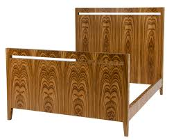 Window Queen size bed frame Zebrawood Mid Century Modern Beds