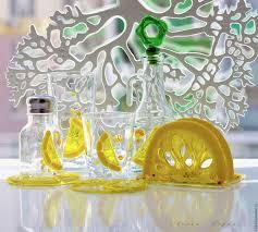 Buy Set For Kitchen Glass Fusing Lemons On Livemaster Online Shop