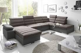 couchgarnitur pascara u form mit schlaffunktion schwarz otto links