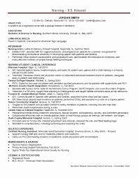 Example Resume For Rn Position New Simple Ideas Icu Registered Nurse Samples Luxury