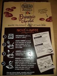 j ai testé préparation pour brownie au chocolat nestlé dessert