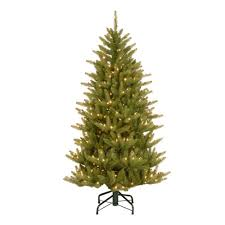 National Tree Company 45 Ft Natural Fraser Slim Artificial Christmas With Clear Lights