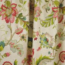 Jacobean Floral Design Curtains by Brissac Jewel Jacobean Floral Kaufman Fabric Traditional