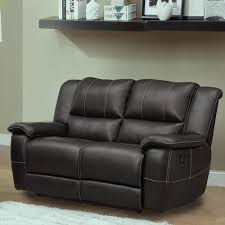 Darrin Leather Reclining Sofa With Console by Tribecca Home Griffin Black Bonded Leather Oversized Double