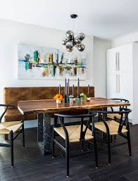 Dinning RoomsIndustrial Modern Dining Room With Small Live Edge Table Also Chairs