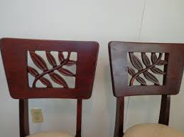 Stakmore Folding Chairs Vintage by Rare Vintage 1940 U0027s Pair Of Stakmore Folding Chairs Carved Leaf