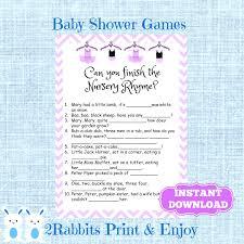 Peter Peter Pumpkin Eater Rhyme Free Download by Nursery Rhymes Baby Shower Game Pink Nursery Rhyme Baby Shower