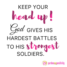 Keep Your Head Up! God Gives His Hardest Battles To His Strongest ... Rev Fc Barnes Janice Brown Im So Glad Jesus Loves Me 20 Best Died For You Images On Pinterest Scriptures Margo Kelly Book Review Freefall By Joshua David Bellin Antioch Ame Church My God Can Do Anything Youtube Best 25 The Tongue Ideas Evil World Power Of The Donald Lawrence Company The Gift By Eydely Worship Channel Pots Pans Another Dr King Day Promises Still Can But Fail Martha Reed Garvin Do Anything You Know Tara Montpetit With Lyrics Ask Ian Black Rebel Motorcycle Club Susan Christie A Mouthful Pennies
