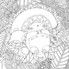 Coloriage Totoro Chat Bus Study42org