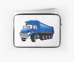 Blue Dump Truck 10w Cartoon