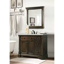 Carrara Marble Top 36 Inch Vanity In Coffee Bean White Finish With Matching Wall