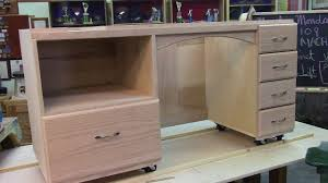 horn sewing cabinets spotlight 108 sewing cabinet with machine lift part 1 of 2