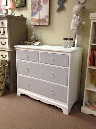 Pink Decorative Dresser Knobs by Dresser Painted With Annie Sloan Chalk Paint Pure White Body And