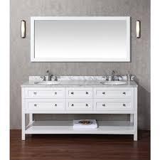 72 Inch Double Sink Bathroom Vanity by Stufurhome Marla 72 Inch Double Sink Bathroom Vanity And Mirror
